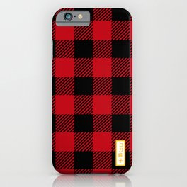 red mask iPhone Case