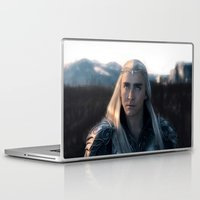 thranduil Laptop & iPad Skins featuring Thranduil - Battlefield by LindaMarieAnson