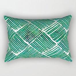 Green Watercolor Streaks Rectangular Pillow