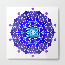 symmetrical pattern in ten planes Metal Print