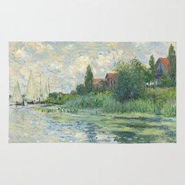 """Claude Monet """"Les bords de la Seine au Petit-Gennevilliers"""" Rug"""