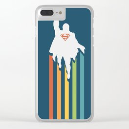 Superman - Man of steel Clear iPhone Case