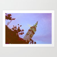 clockwork Art Prints featuring clockwork  by lizbee