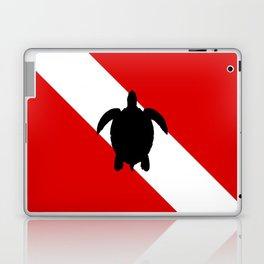 Diving Flag: Sea Turtle Laptop & iPad Skin