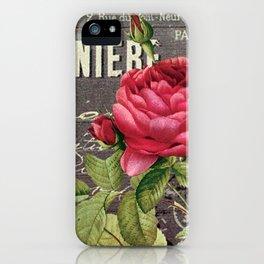 Vintage red rose #2 iPhone Case