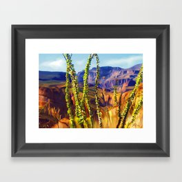 arizona superstition mountains Framed Art Print