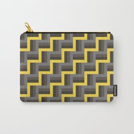 Plus Five Volts - Geometric Repeat Pattern Carry-All Pouch