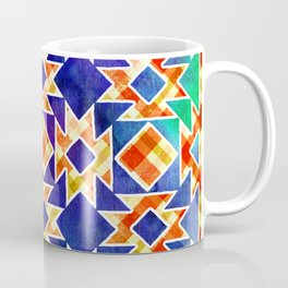 Multicolor Pattern, Including: Cerulein, Electric Violet, Mountain Meadow, Persian Blue + See Below Coffee Mug