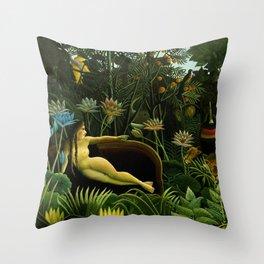 Henri Rousseau - The Dream Throw Pillow