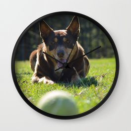 Onea, Australian Cattle Dog Wall Clock