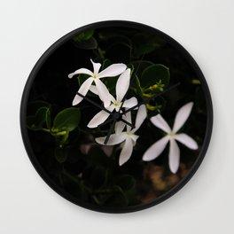 white plumeria Wall Clock
