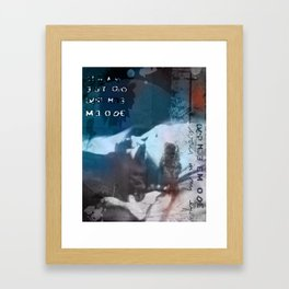The world in my eyes portrait Framed Art Print