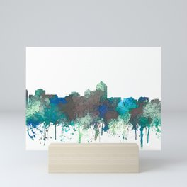 Albuquerque, New Mexico Skyline - SG Jungle Mini Art Print