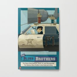 The Blues Brothers Bluesmobile 2/3 Metal Print
