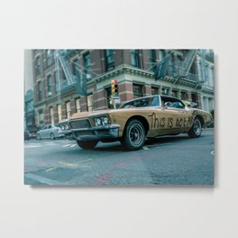 THIS IS NOT AMERICA Metal Print