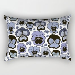 Blue pansy flowers Rectangular Pillow