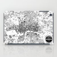 london map iPad Cases featuring LONDON MAP by Maps Factory