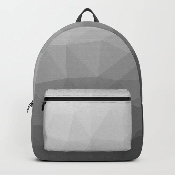 Grey Gradient Geometric Mesh Pattern Backpack