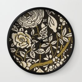 Nouveau Birds And Flowers Wall Clock