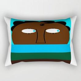bbnyc's little blue eyed boy in hiding Rectangular Pillow