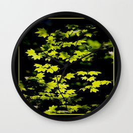 late summer sunny maple leaves Wall Clock