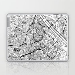 Vienna White Map Laptop & iPad Skin