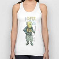 diver Tank Tops featuring Diver by pakowacz
