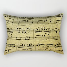 Notes on Gold One Solace Rectangular Pillow