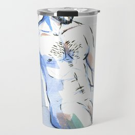 JESSE, Nude Male by Frank-Joseph Travel Mug