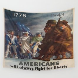 Vintage poster - World War II Wall Tapestry
