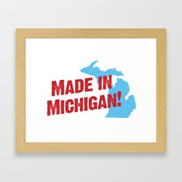 Made in Michigan Framed Art Print