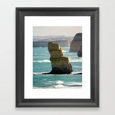 Limestone Rock Stacks Framed Art Print