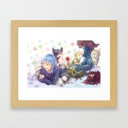 Dramatical Dogs Framed Art Print
