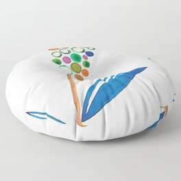 Staccato Spring Floor Pillow