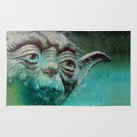 yoda Area & Throw Rugs featuring YODA by ARTito