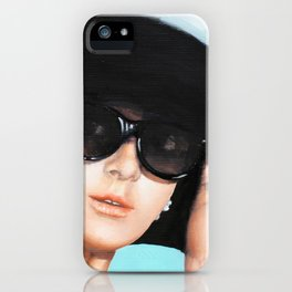 Audrey Hepburn breakfast at tiffany  iPhone Case