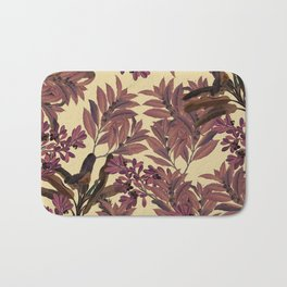 Purple Leaves Bath Mat