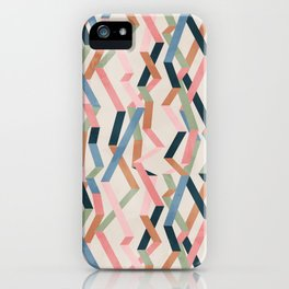 Straight Geometry Ribbons 1 iPhone Case