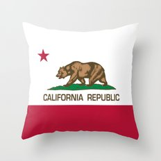 California Republic Flag, High Quality Image Throw Pillow