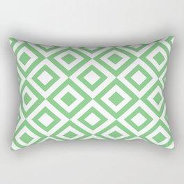 Green Grid Rectangular Pillow