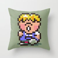 earthbound Throw Pillows featuring Pokey Minch - Earthbound/Mother 2 by Studio Momo╰༼ ಠ益ಠ ༽
