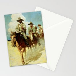 """""""The Little Posse"""" Western Art by NC Wyeth Stationery Cards"""