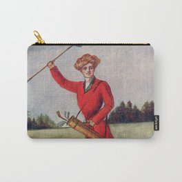 On the Links! Vintage 1905 Postcard Carry-All Pouch