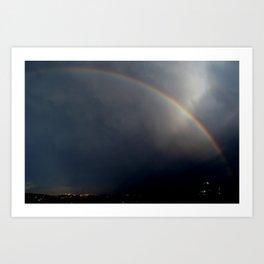 Rainbow At Night Art Print