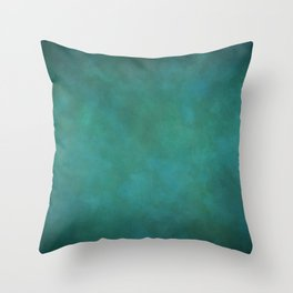 Abstract Soft Watercolor Gradient Ombre Blend 11 Teal, Turquoise, Green and Blue Throw Pillow