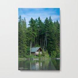 Lakeside Cabin Metal Print