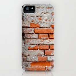 Red hand crafted brick iPhone Case