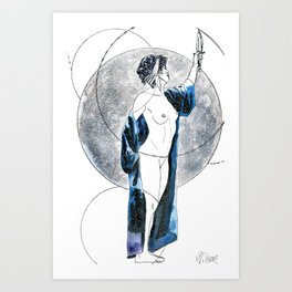 Singing Down the Moon Art Print