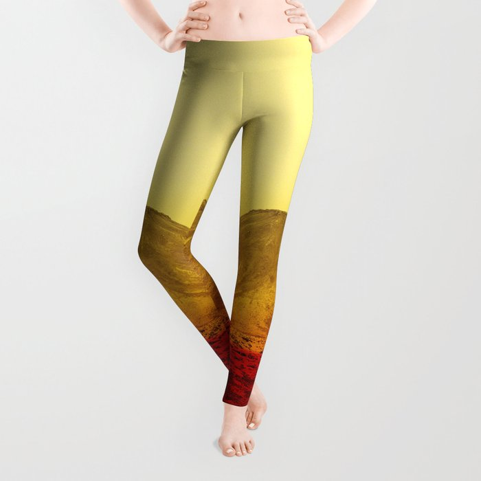Warm abstraction Leggings