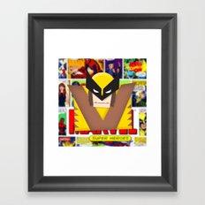 Old School Wolverine Framed Art Print
